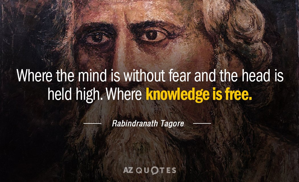 tagore where the mind is without fear