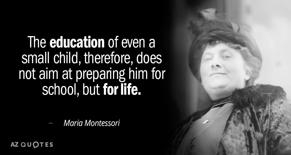 Top 25 Quotes By Maria Montessori Of 321 A Z Quotes