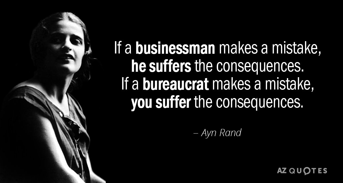 Ayn Rand Quote A Businessman Cannot Force You To Buy His