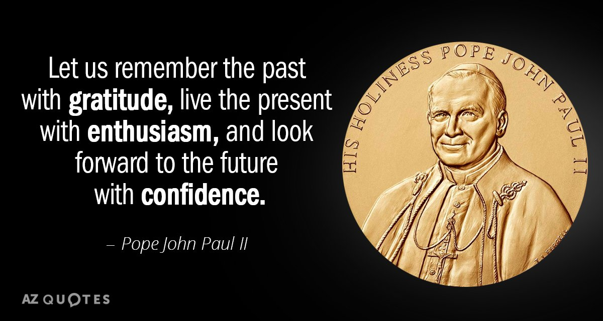 Pope John Paul Ii Quote Let Us Remember The Past With Gratitude