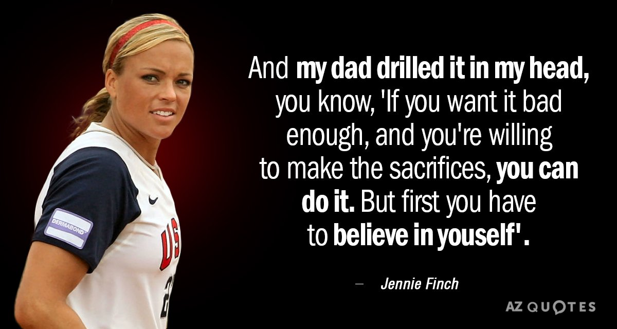 TOP 25 QUOTES BY JENNIE FINCH (of 81)